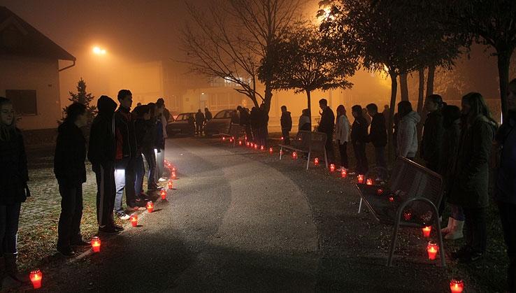 <p>Kao i svake godine u Parku hrvatskih branitelja će se upriličiti obilježavanje dana sjećanja na žrtvu Vukovara u Čepinu 18. studenog 2013. godine s početkom u 17,30 sati. Načelnik općine Čepin; Dražen Tonkovac, uz nazočnost zamjenika načelnika, te 200 učenika OŠ Miroslava Krleže Čepin zapaliti će svijeće u znak sjećanja na žrtvu Vukovara.</p>