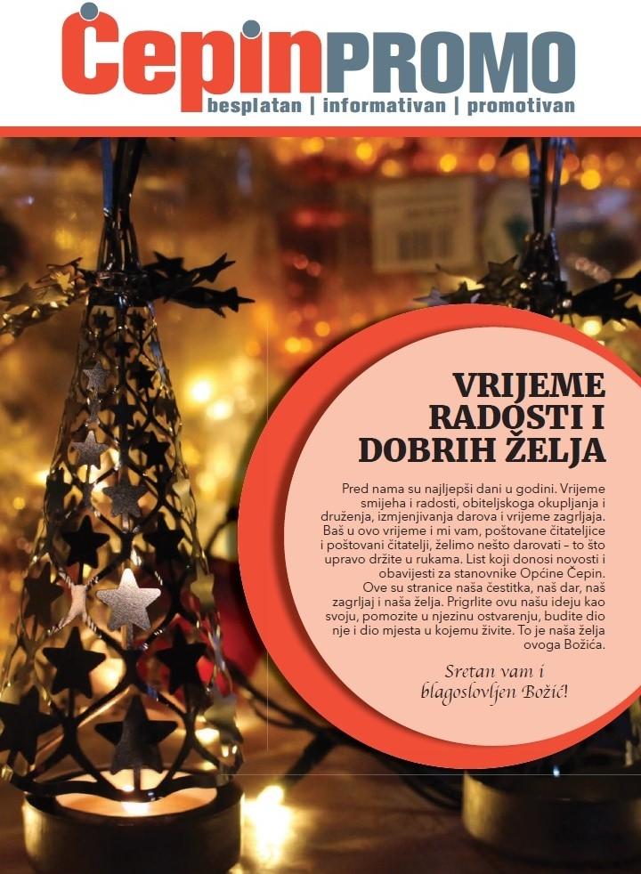 <p>Uoči najsvečanijih dana u godini stanovnici općine Čepin dobit će poklon – čepinske novine 'Čepin Promo'.</p>