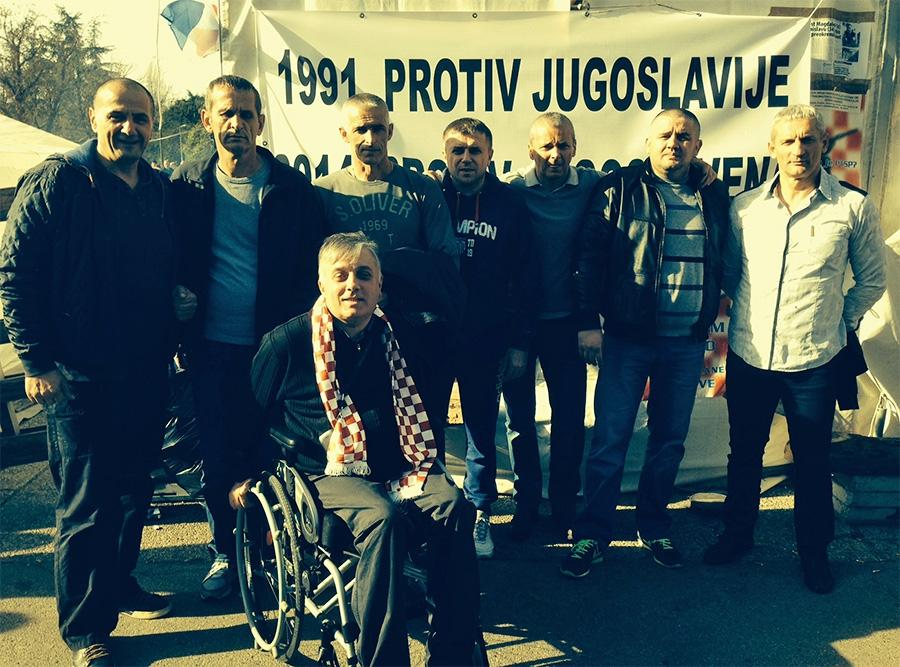 <p>Čepinski branitelji su u Zagrebu dali podršku prosvjedu koji danas prosvjeduju već 17ti dan.</p>